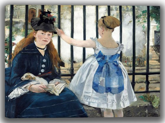 Manet, Edouard: The Railway (Le Chemin de fer). Fine Art Canvas. Sizes: A4/A3/A2/A1 (004088)